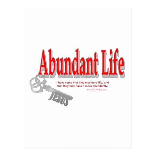 Abundant Life: The Key - v1 (John 10:10) Postcard