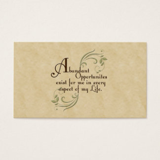 Abundant Opportunities Affirmation /Business Cards