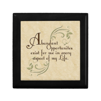 Abundant Opportunities Affirmation Gift Box