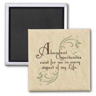 Abundant Opportunities Affirmation Magnet