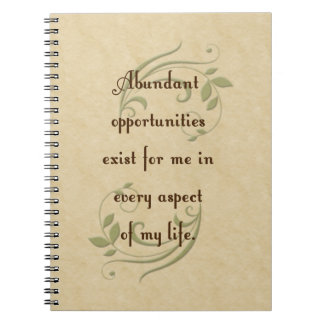 Abundant Opportunities Affirmation Notebook