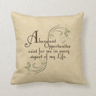 Abundant Opportunities Affirmation Pillow