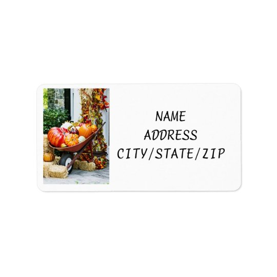 "ABUNDANTLY PRETTY ""FALL"" ADDRESS LABELS"