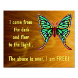 Abuse Survivors Butterfly Poster