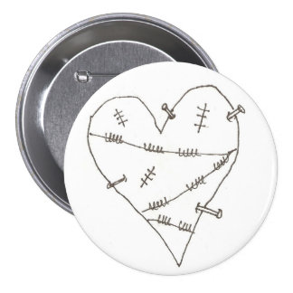 Abused Heart 7.5 Cm Round Badge