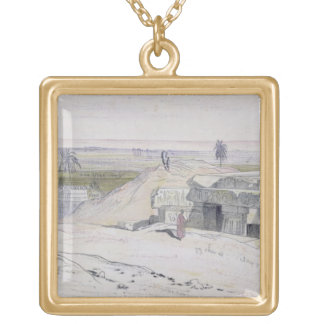 Abydus, 1pm, 12th January 1867 (ink and watercolou Gold Plated Necklace