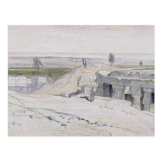 Abydus, 1pm, 12th January 1867 (ink and watercolou Postcard
