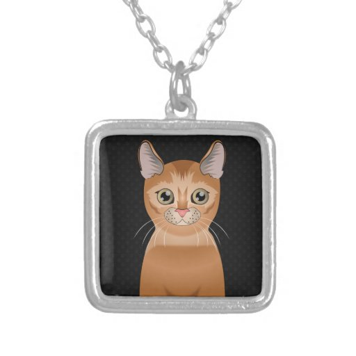 Abyssinian Cat Cartoon Paws Necklaces
