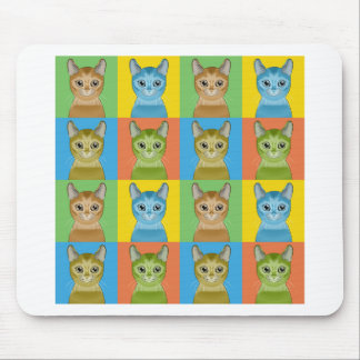 Abyssinian Cat Pop-Art Mouse Mat