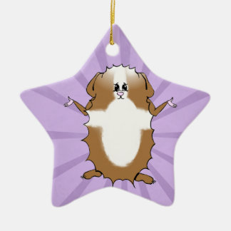 Abyssinian Guinea Pig Comic Christmas Ornament