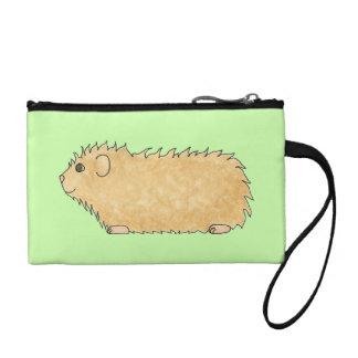 Abyssinian Guinea Pig. On Mint Green. Coin Purse