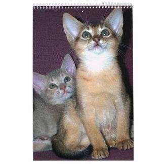 Abyssinian kittens & Cats Calendar