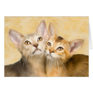 Abyssinian Kittens Note Card
