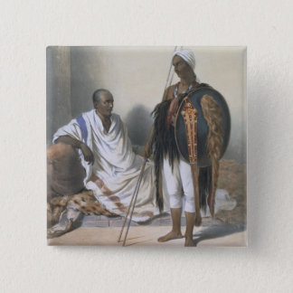 Abyssinian Priest and Warrior, illustration from ' 15 Cm Square Badge