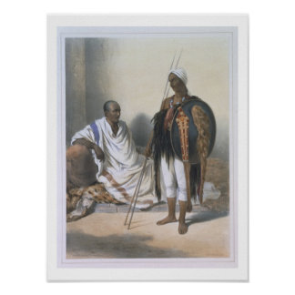 Abyssinian Priest and Warrior, illustration from ' Poster