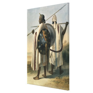 Abyssinian Warriors, illustration from 'The Valley Canvas Print