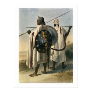 Abyssinian Warriors, illustration from 'The Valley Postcard