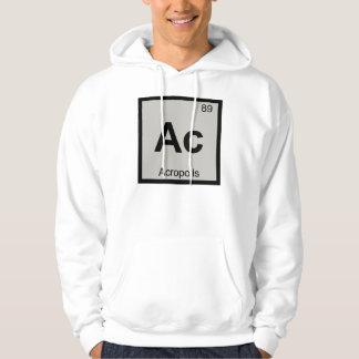 Ac - Acropolis Architecture Chemistry Symbol Hooded Sweatshirt