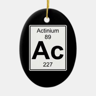 Ac - Actinium Ceramic Oval Decoration