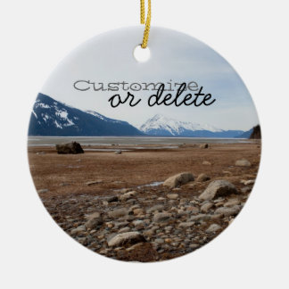 AC Alaskan Coast Round Ceramic Decoration