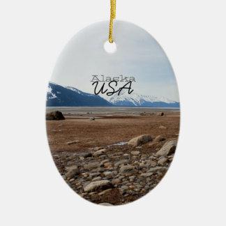 AC Alaskan Coast Ceramic Oval Decoration