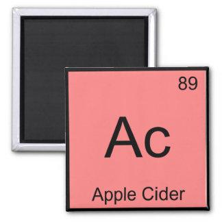 Ac - Apple Cider Chemistry Element Symbol T-Shirt Square Magnet
