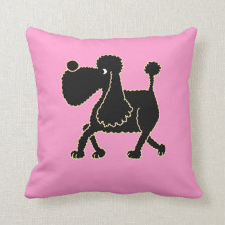 AC- Awesome Black Poodle Pillow