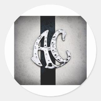 AC Badge Logo Art Round Sticker