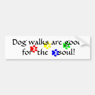 AC- Dog walks are good  for  the soul sticker Bumper Sticker