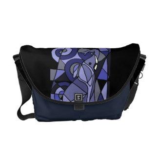 AC- Elephant Abstract Art Messenger Bag