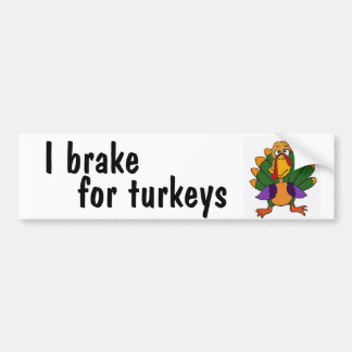 AC- I brake for turkeys bumper sticker