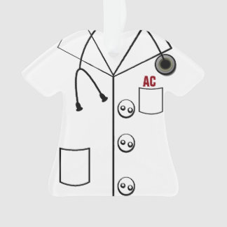 AC LAB COAT ORNAMENT CHRISTMAS (CUSTOMIZABLE)