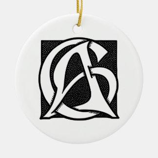 AC Monogram Christmas Ornaments