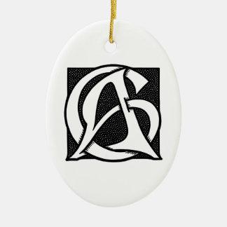 AC Monogram Christmas Tree Ornament