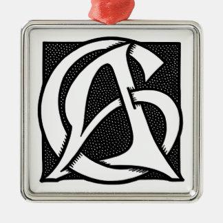 AC Monogram Ornament