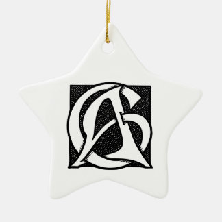 AC Monogram Ornaments