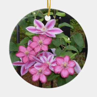 AC- Pink Clematis Flower Ornament