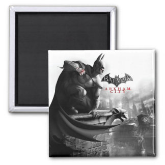 AC Poster - Batman Gargoyle Ledge Square Magnet