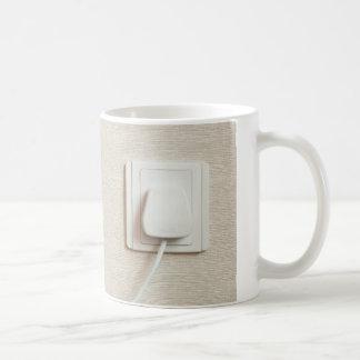 AC power plug in wall socket Basic White Mug