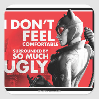 AC Propaganda - Catwoman Uncomfortable Square Sticker