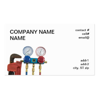 AC tools and pipe wrench Business Card