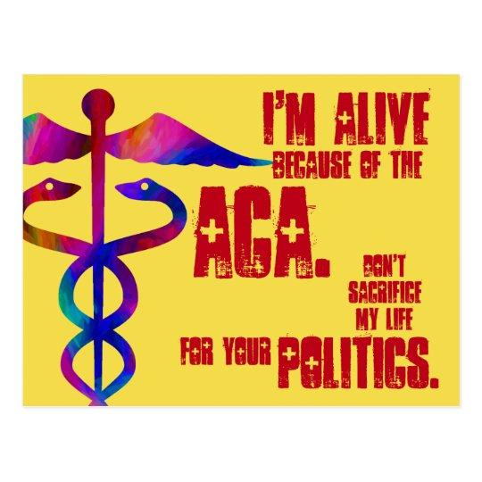 ACA My Life Your Politics Postcard