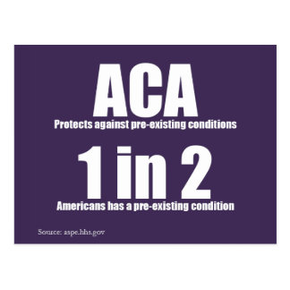 ACA Pre-Existing Condition Postcard
