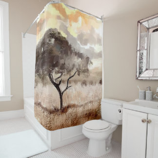 Acacia Tree Africa Custom Shower Curtain