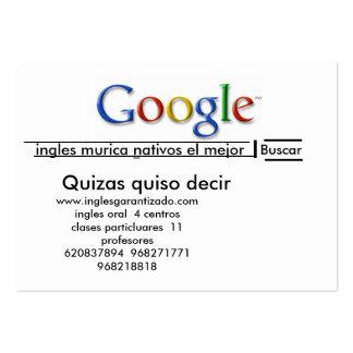 academia inglesgarantizado murcia business card template