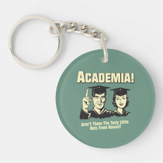 Academia: Tasty Nuts From Hawaii Double-Sided Round Acrylic Key Ring