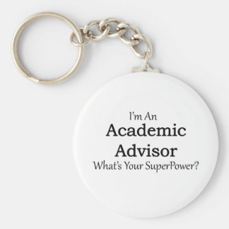 Academic Advisor Basic Round Button Key Ring