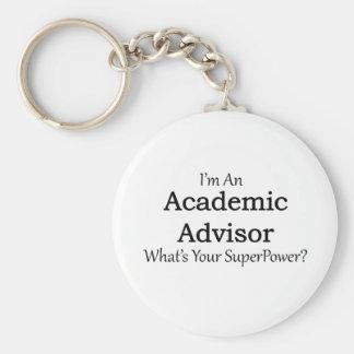 Academic Advisor Basic Round Button Key Ring