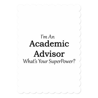 Academic Advisor 13 Cm X 18 Cm Invitation Card