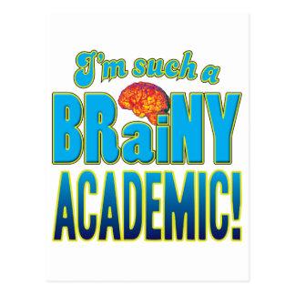 Academic Brainy Brain Postcard